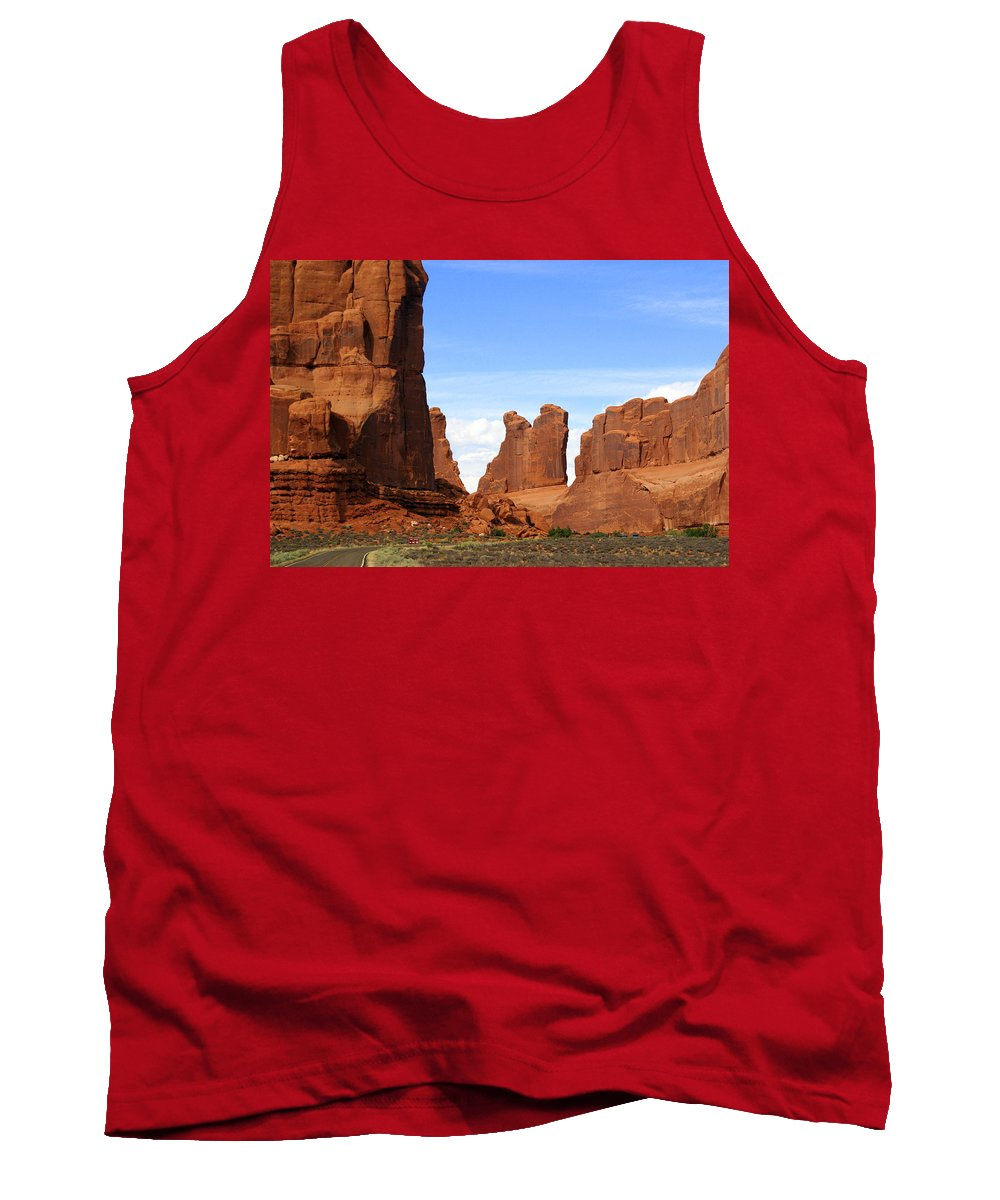 Southwest Art Tank Top featuring the photograph Wall Street by Marty Koch