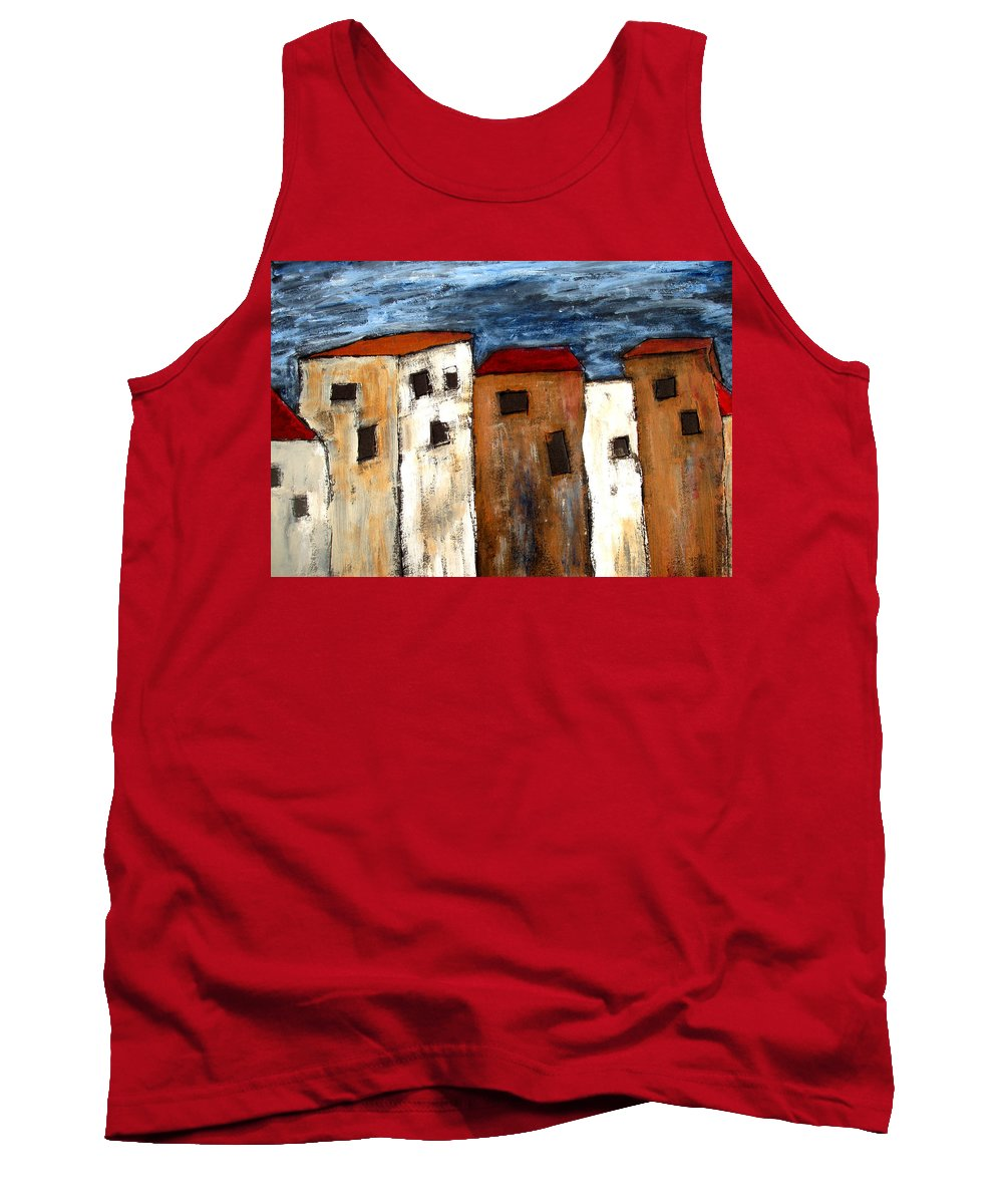 Acrylic Tank Top featuring the painting Warehouse Row by Wayne Potrafka