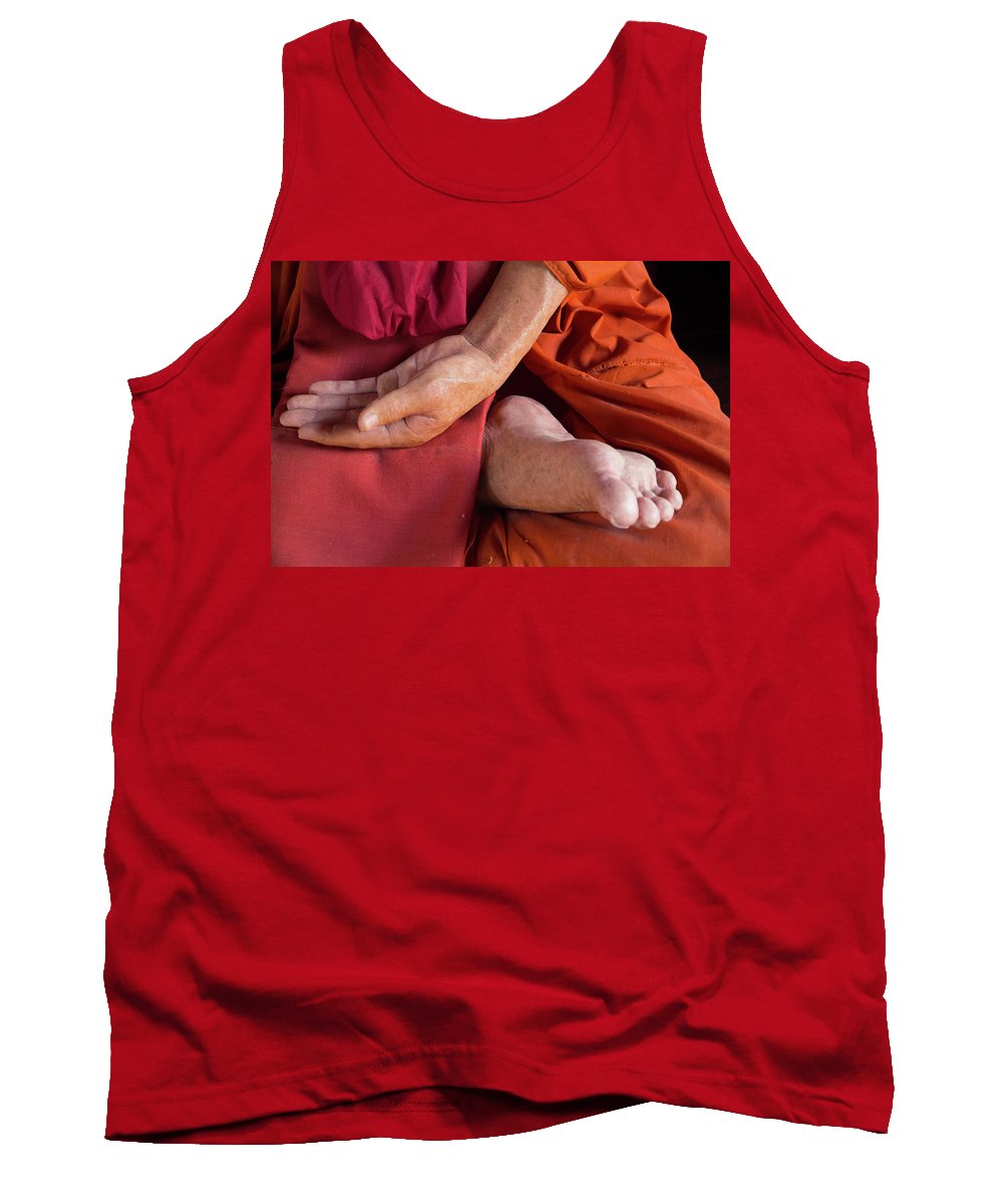 Asia Tank Top featuring the photograph Wax Monk by Emily M Wilson