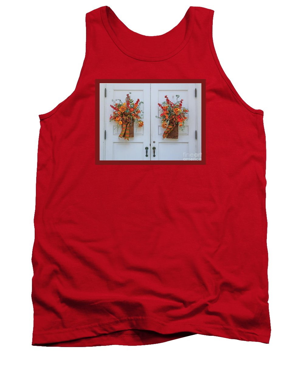 New England Tank Top featuring the photograph Welcome Doors by Marcel J Goetz Sr