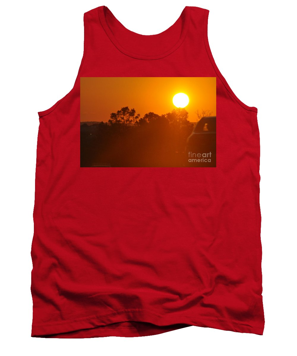 Sun Tank Top featuring the photograph Western Sky by Vicky Tubb