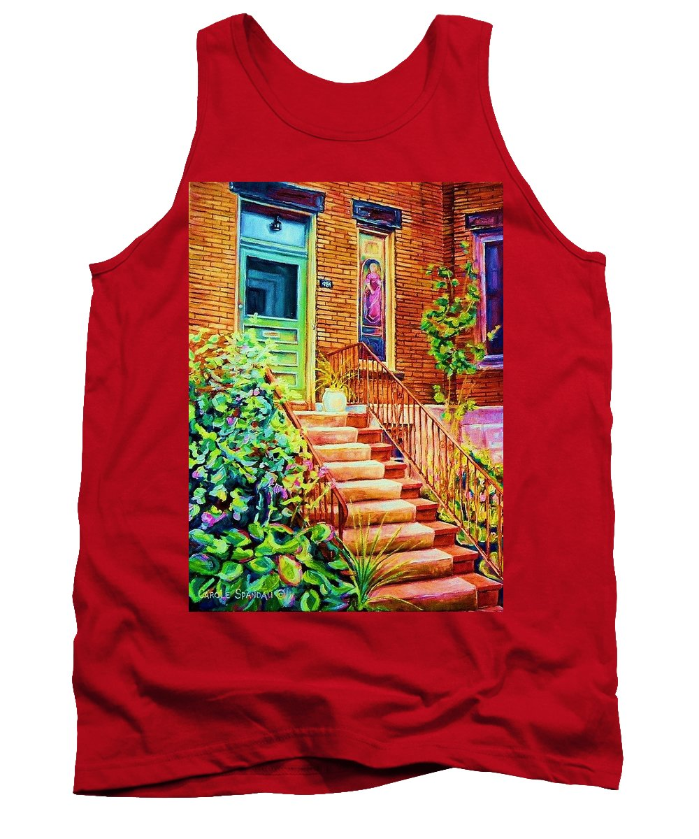 Westmount Home Tank Top featuring the painting Westmount Home by Carole Spandau