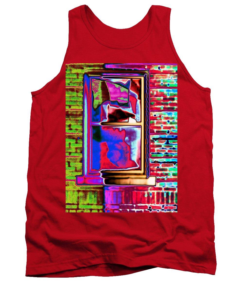 Window Tank Top featuring the digital art Window 1 by Tim Allen