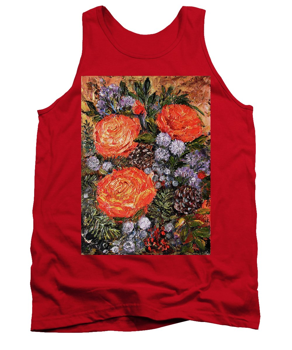 Winter Bouquet Tank Top featuring the painting Winter Bouquet  by Kozlova Marina