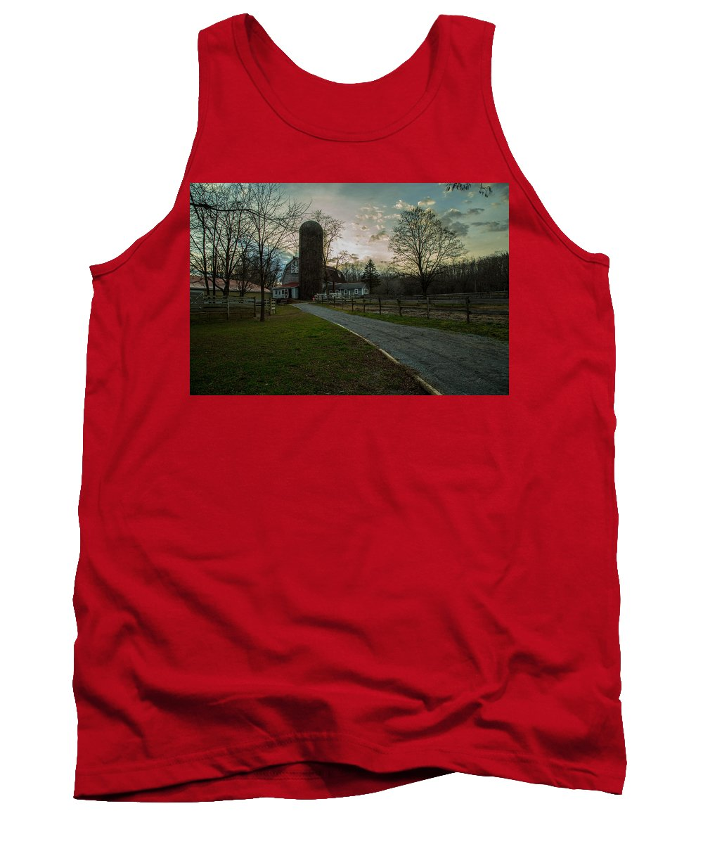 Wintered Tank Top featuring the photograph Winterwood Farm by Robert Rotkowitz