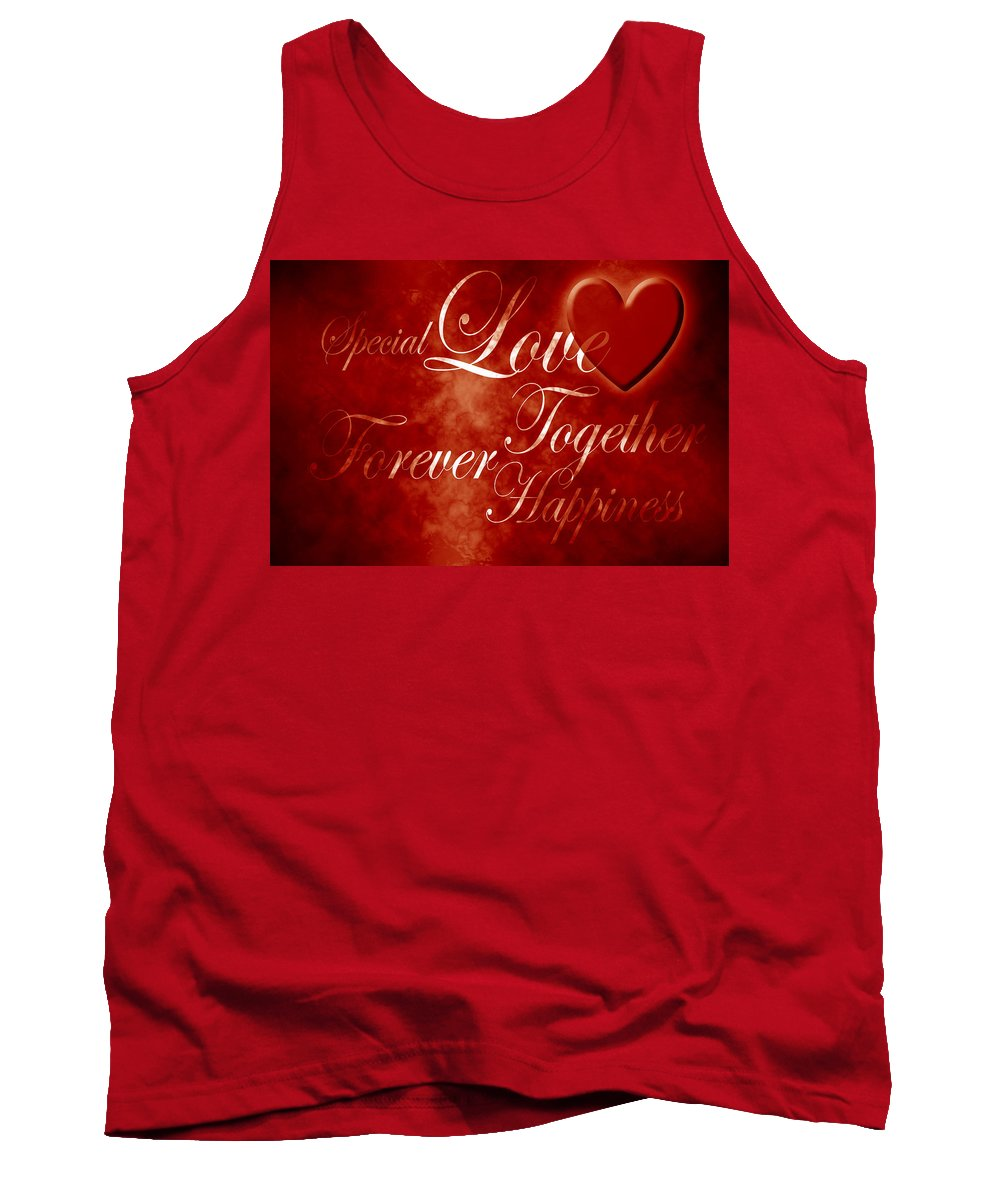 Love Tank Top featuring the digital art Words Of Love by Phill Petrovic