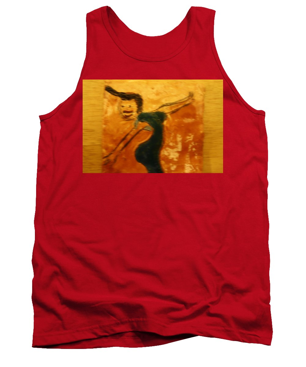 Jesus Tank Top featuring the ceramic art Work It - Tile by Gloria Ssali