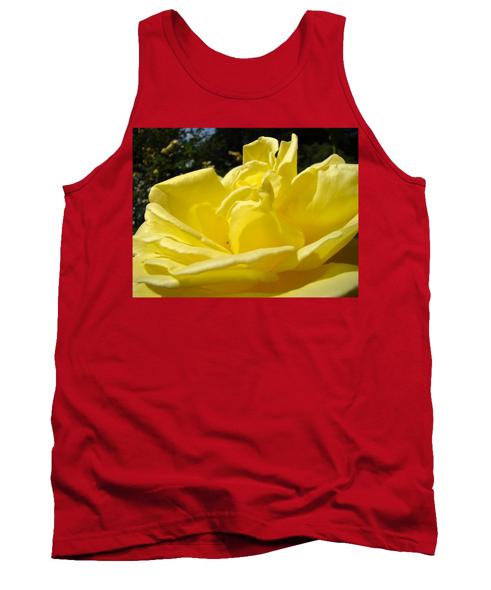 Rose Tank Top featuring the photograph Yellow Rose Sunny Art Prints Roses Flowers Baslee Troutman by Baslee Troutman