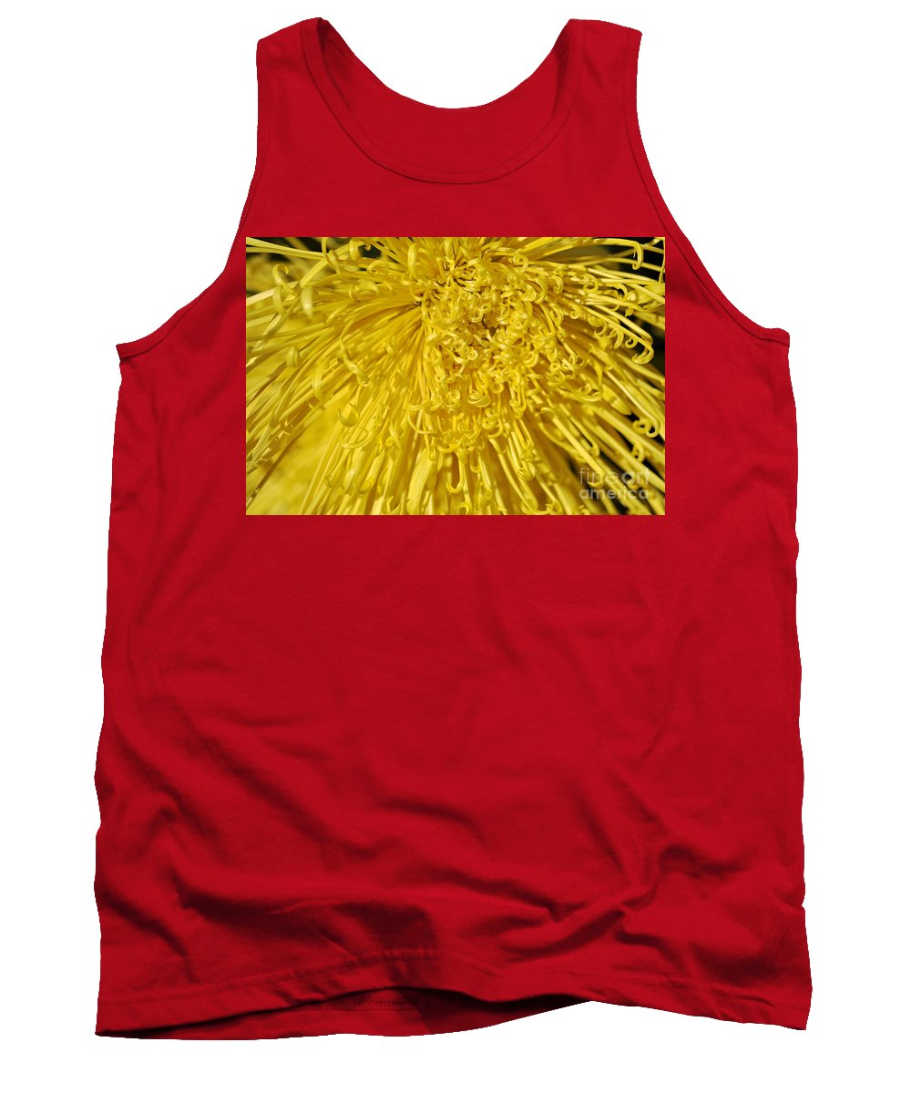 Clay Tank Top featuring the photograph Yellow Strings by Clayton Bruster