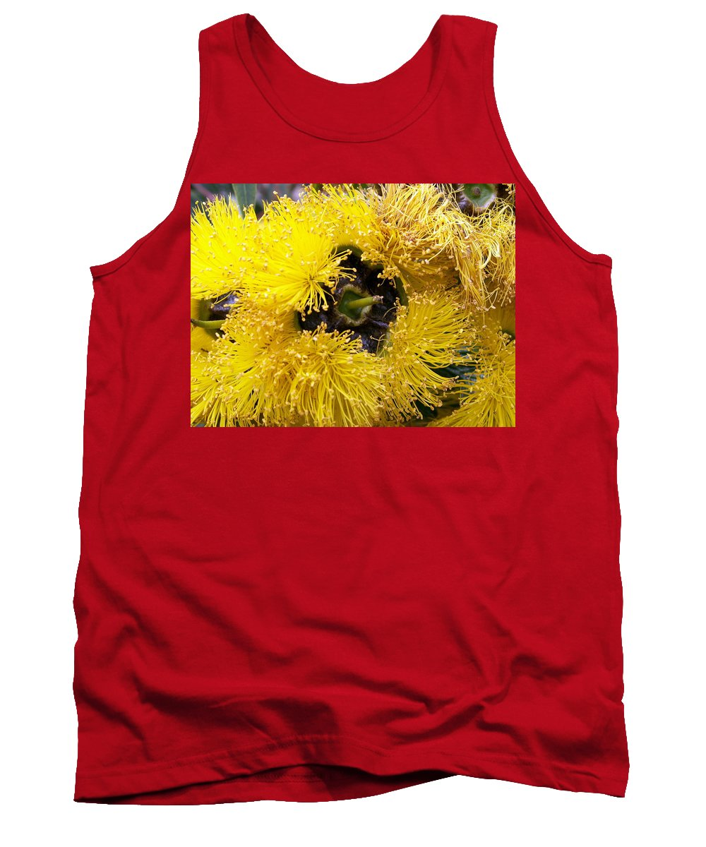 Flower Tank Top featuring the photograph Yellow Tree Flower by Amy Fose