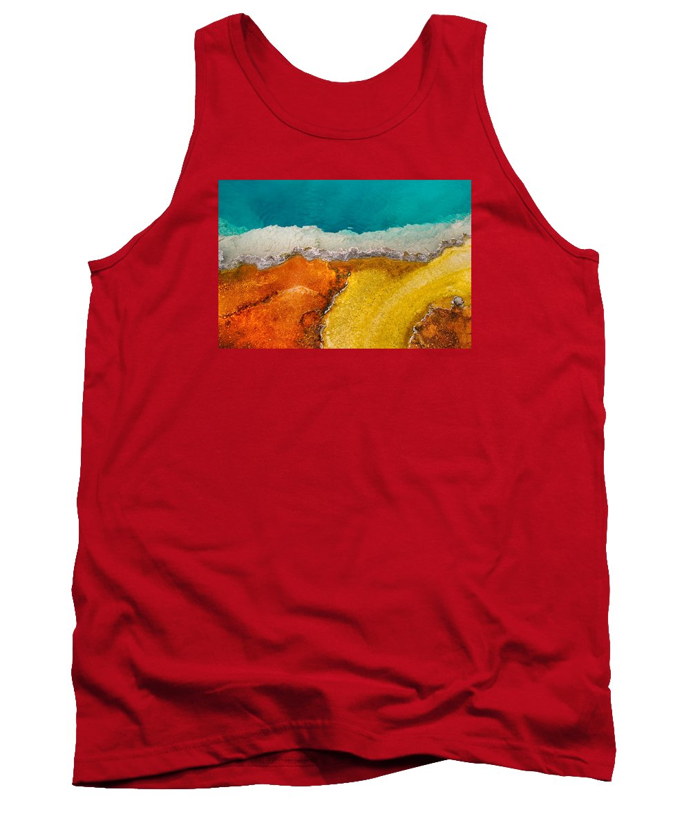 Pool Tank Top featuring the photograph Yellowstone Pool by Grant Groberg