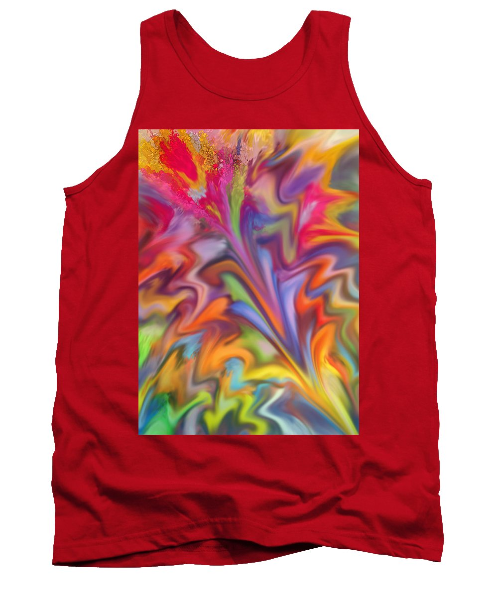 Abstract Tank Top featuring the digital art You Got Color by Ian MacDonald