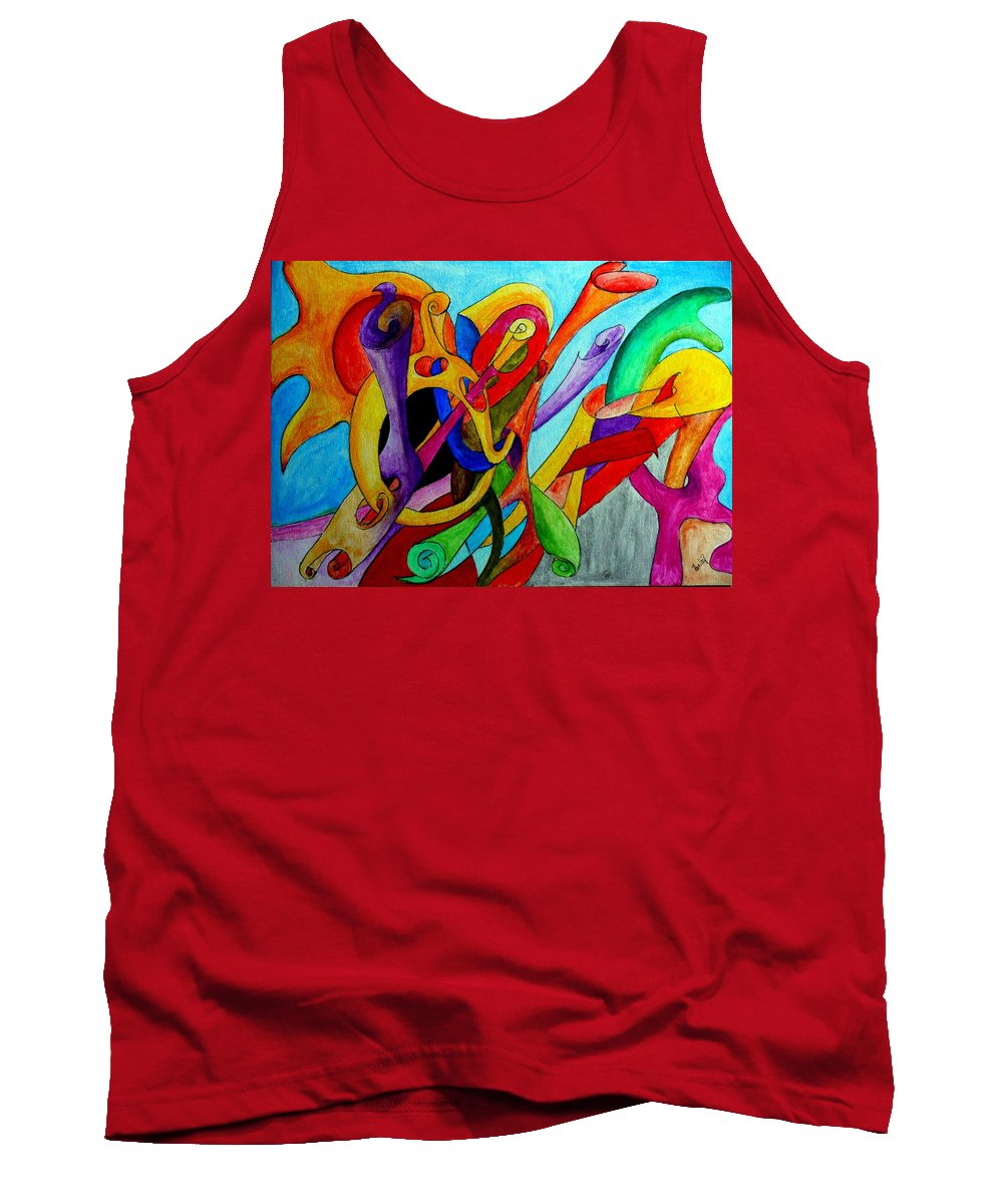 Yourname Tank Top featuring the painting Yourname by Helmut Rottler