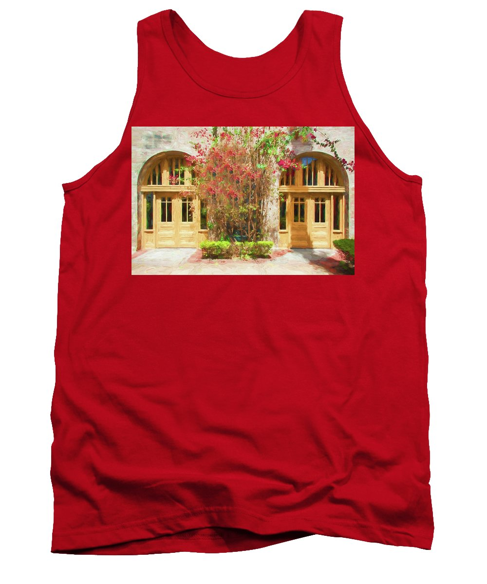 Covered Walkway Tank Top featuring the photograph Courtyard Doors St Augustine 002 by Rich Franco
