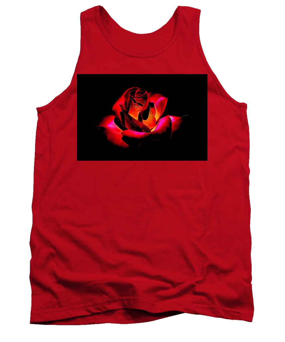 Red Rose Tank Top featuring the photograph Rose by George Fredericks