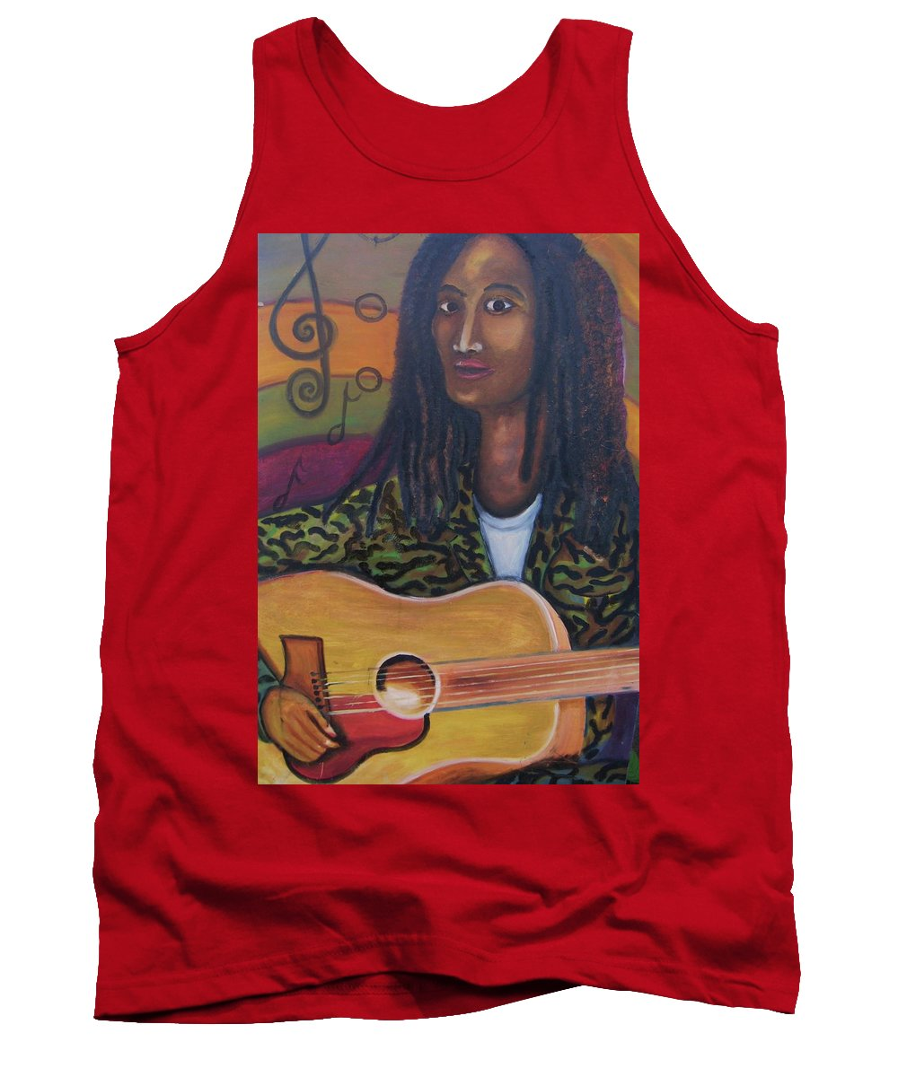 Tank Top featuring the painting Abstract Music by Andrew Johnson