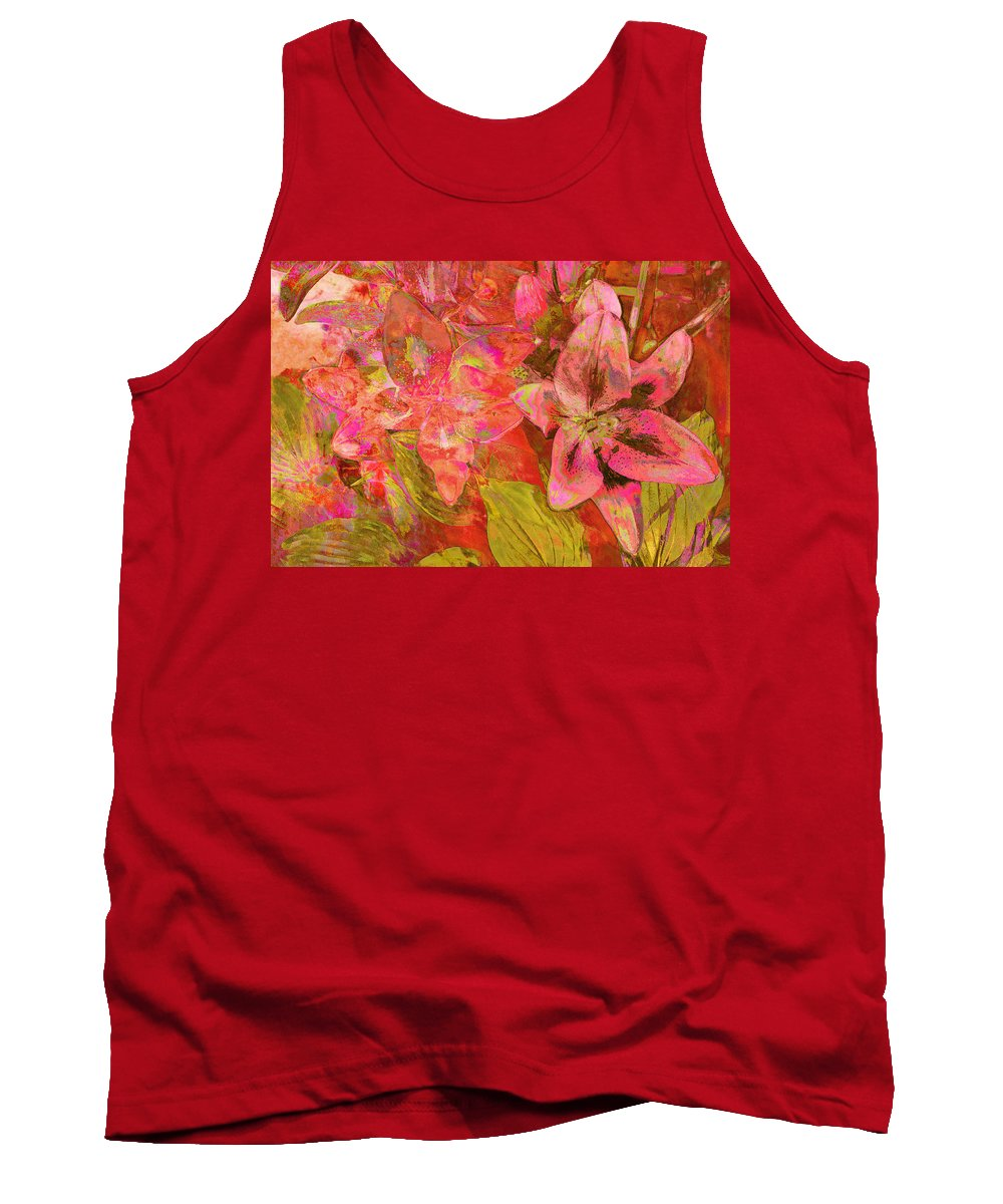 Abstract Pink Lilies Tank Top featuring the photograph Abstract Pink Lilies by Suzanne Powers