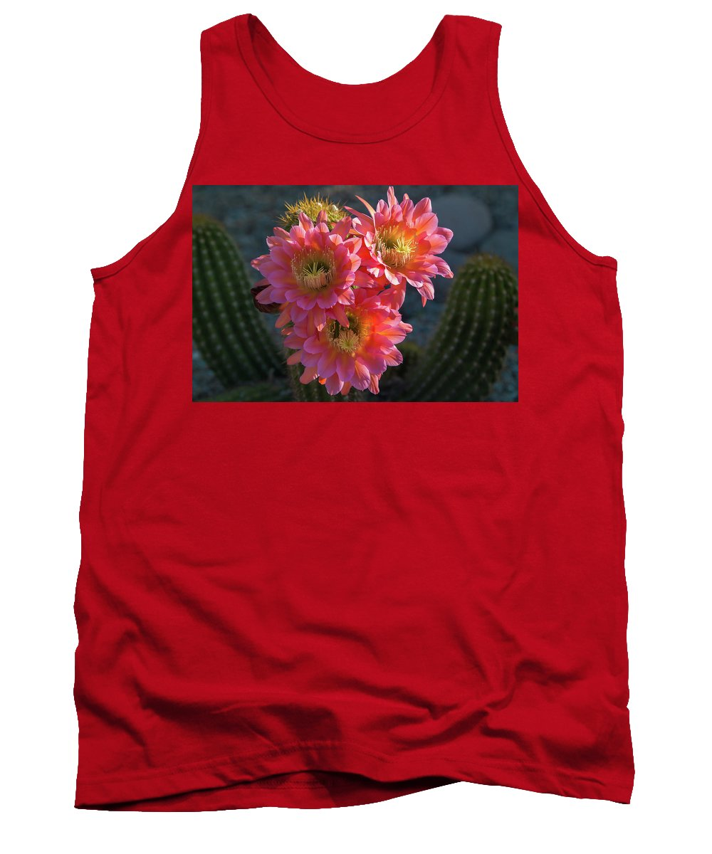 Arizona Tank Top featuring the photograph Argentine Giant Pink Trio by Rolf Jacobson