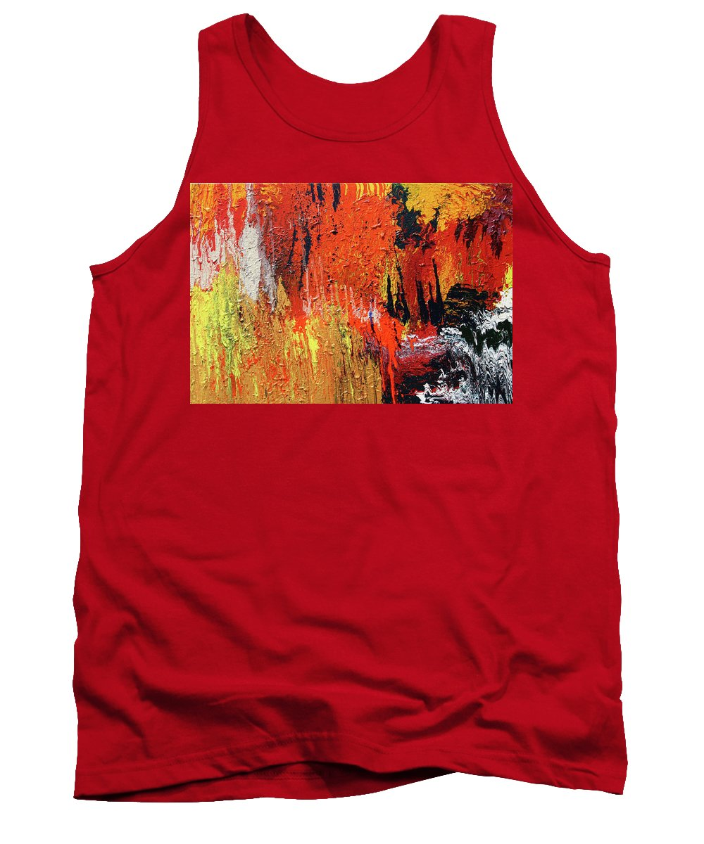 Fusionart Tank Top featuring the painting Chasm by Ralph White