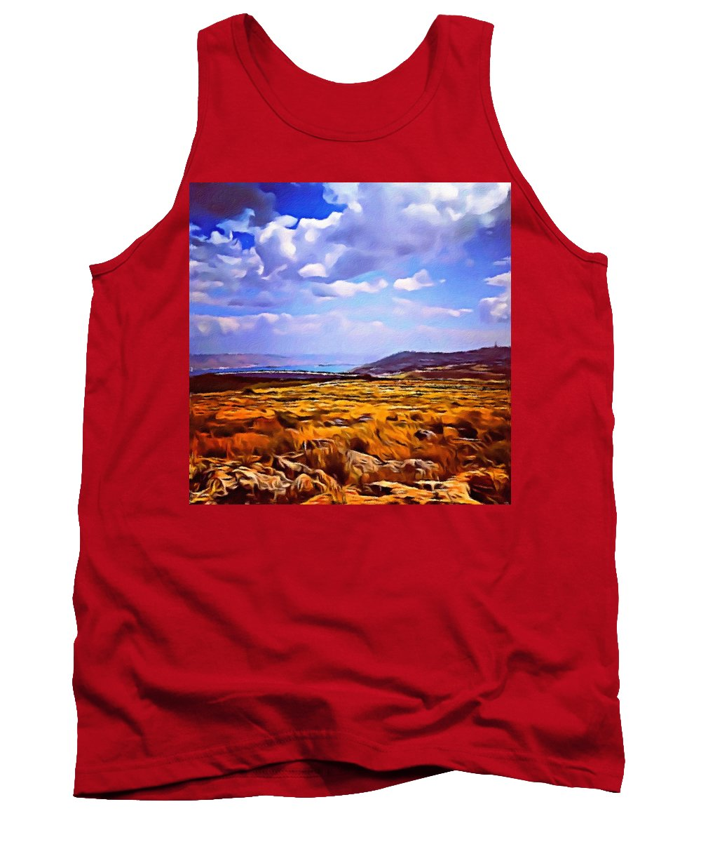 Pamela Storch Tank Top featuring the digital art Dove Of The Milk And Honey by Pamela Storch