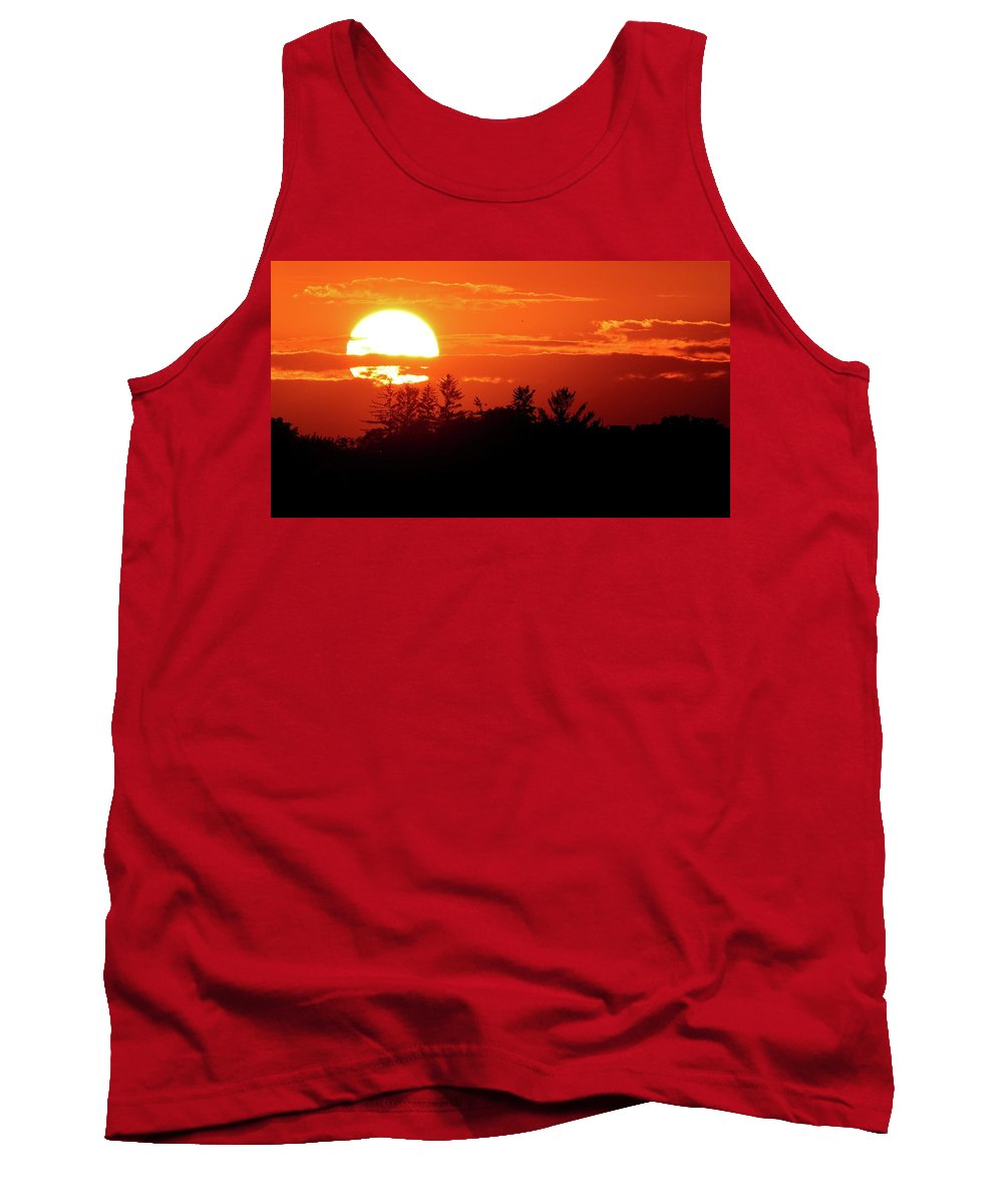 Abstract Tank Top featuring the photograph July 9-2018 Sunset Two by Lyle Crump