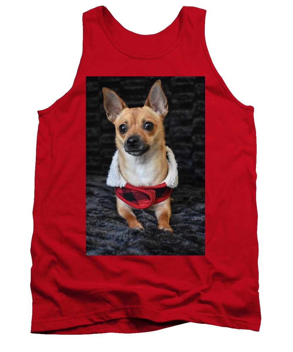 Chihuahua Tank Top featuring the digital art Miracle by Cassidy Marshall