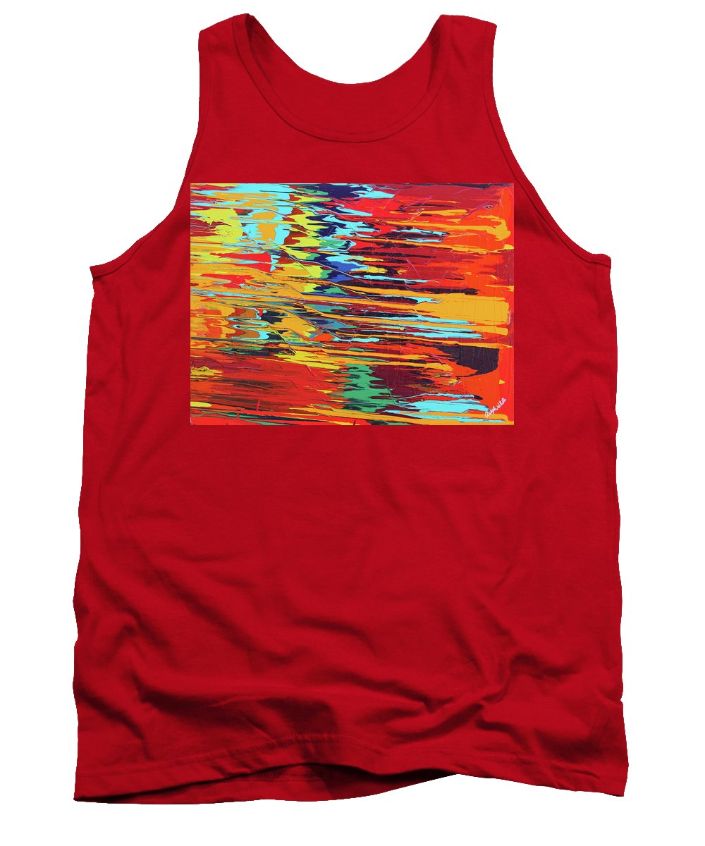 Fusionart Tank Top featuring the painting Zap by Ralph White