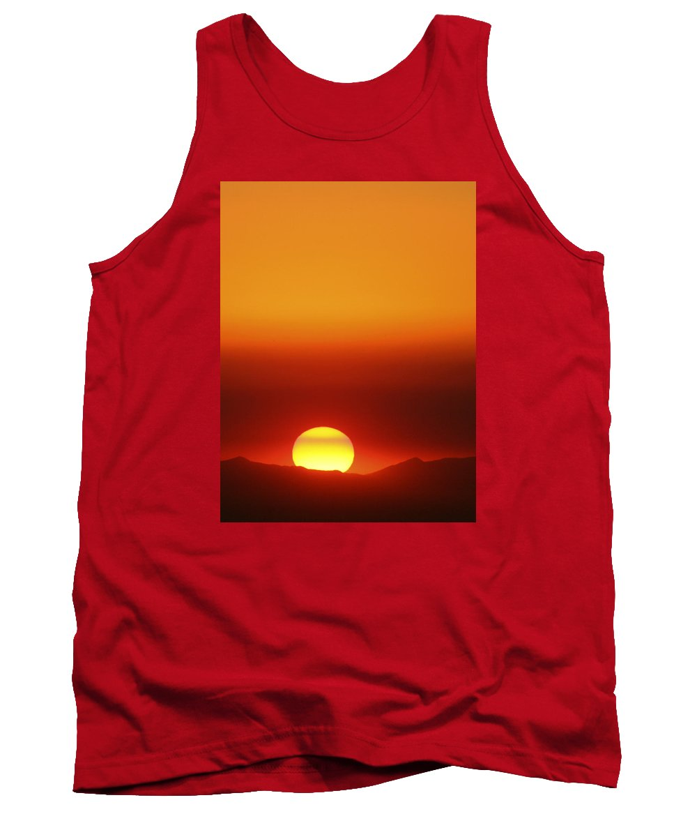 Catalina Sunset Tank Top featuring the photograph Catalina Sun by Andre Aleksis