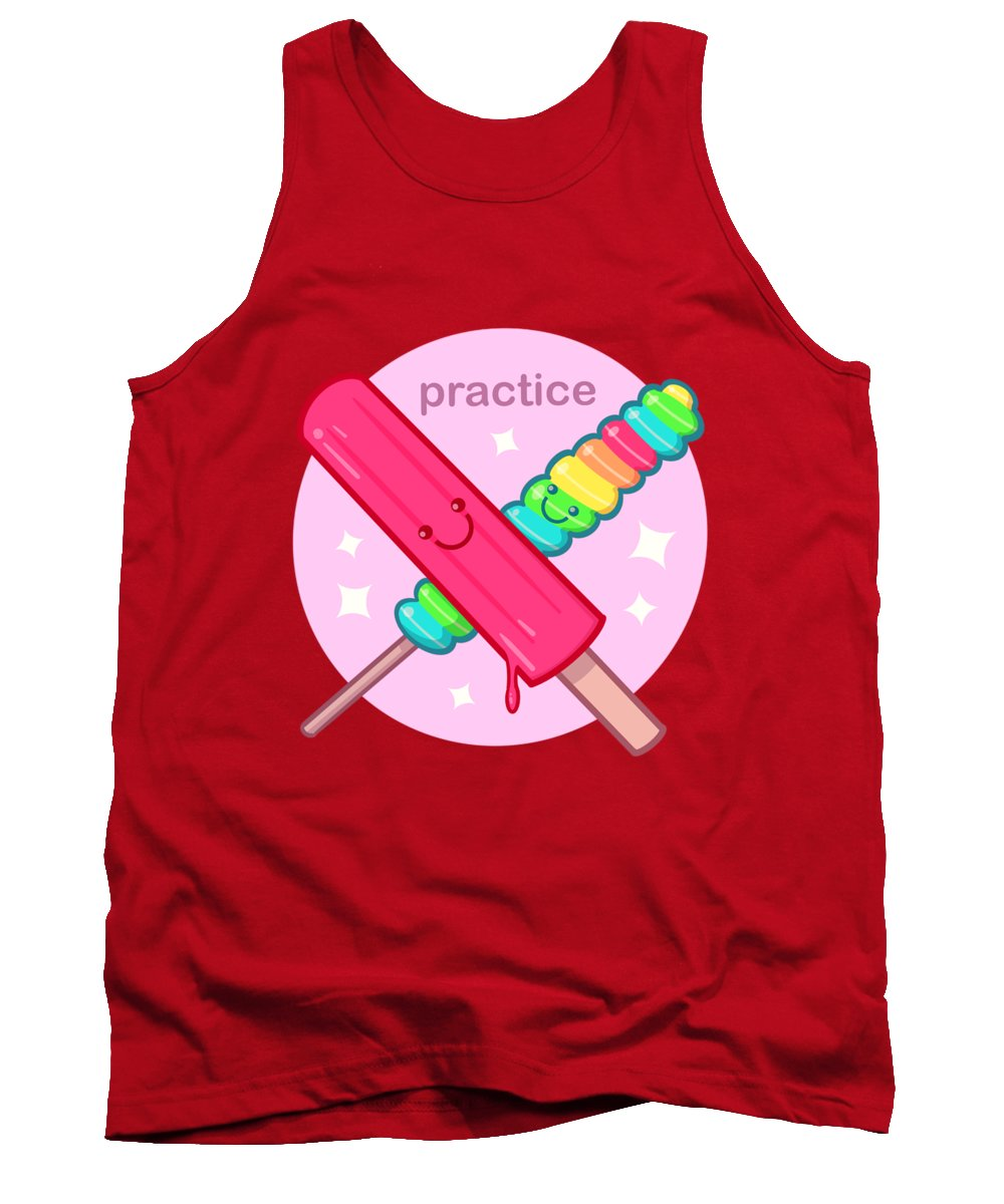 Sucker Tank Top featuring the drawing Practice by Ludwig Van Bacon