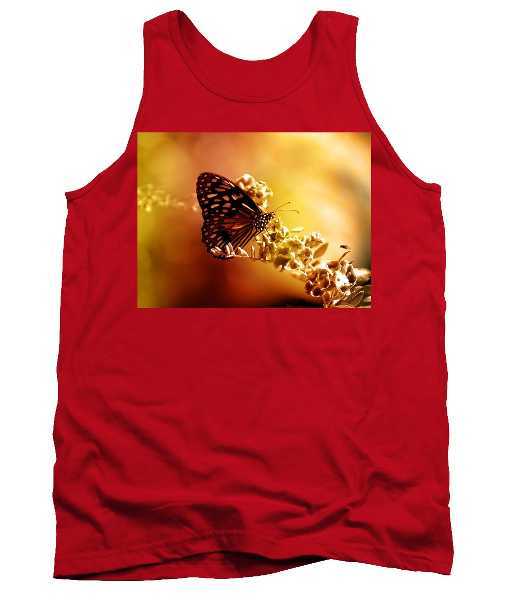 Butterfly Tank Top featuring the photograph Radiance by Holly Kempe