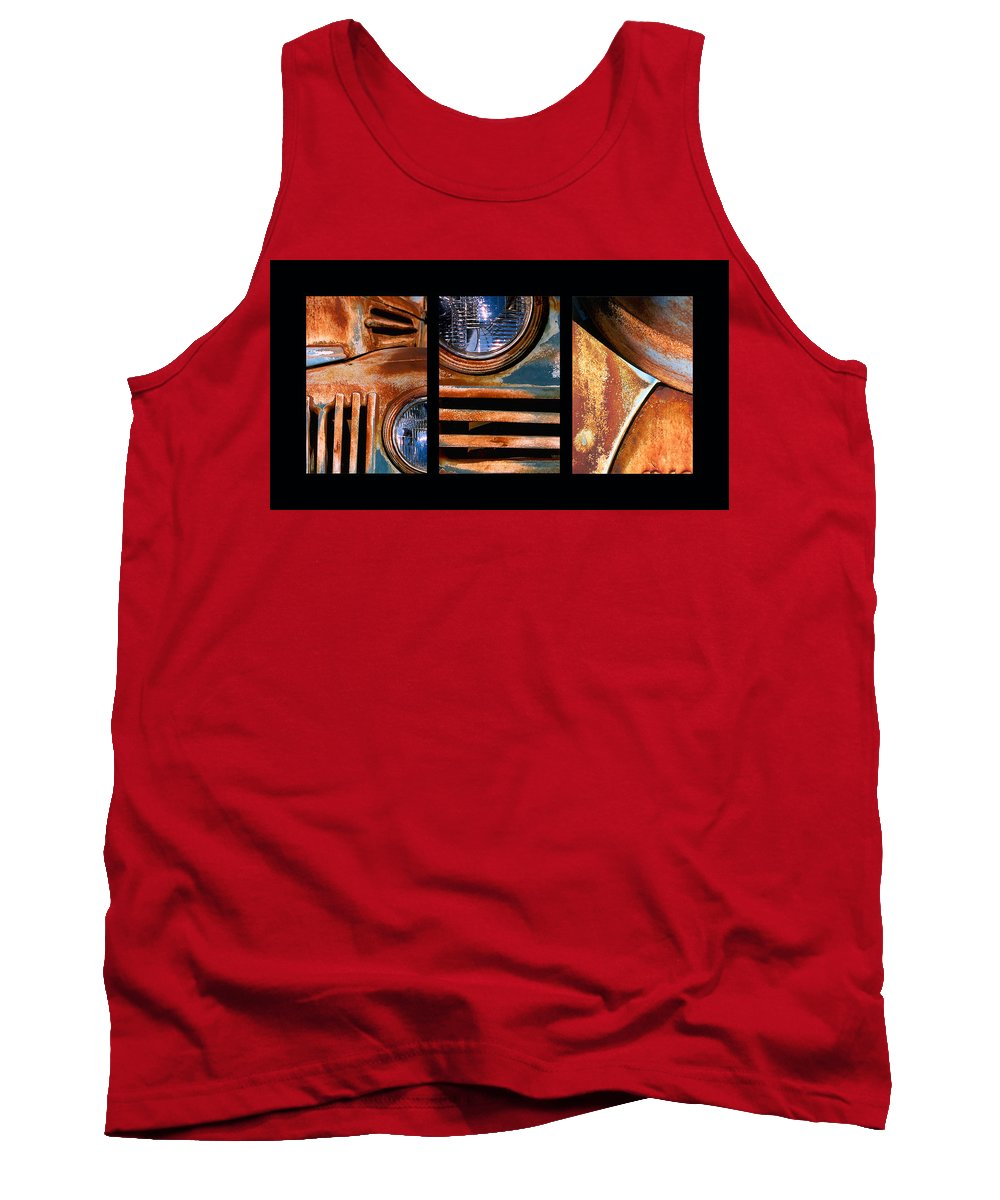 Abstract Tank Top featuring the photograph Red Head On by Steve Karol