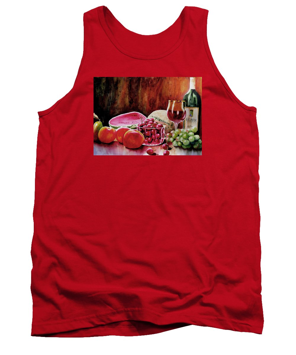 Wine Tank Top featuring the painting Summer Syrah by Karen Stark