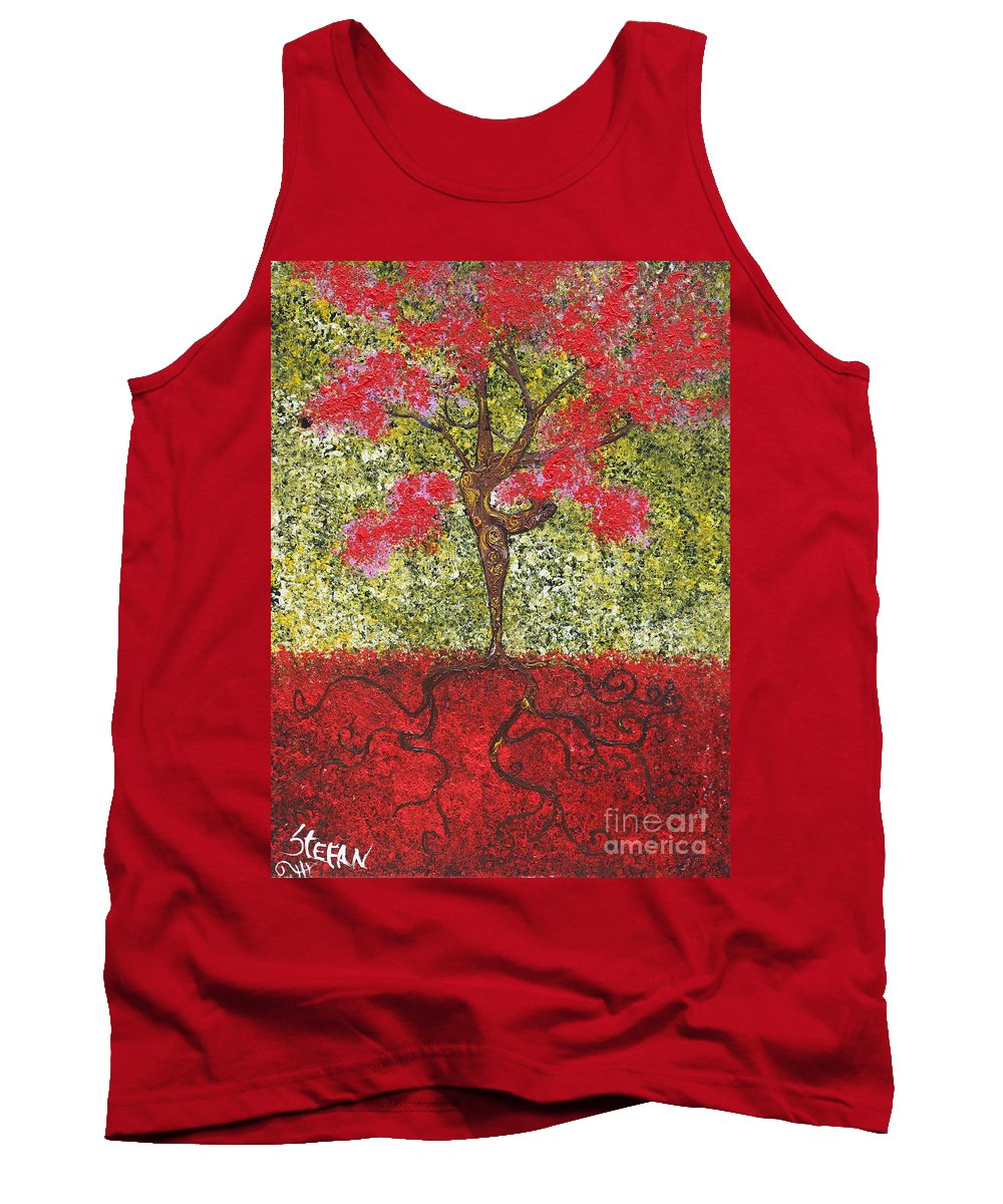 Dancer Tank Top featuring the painting The Lady Tree Dancer by Stefan Duncan