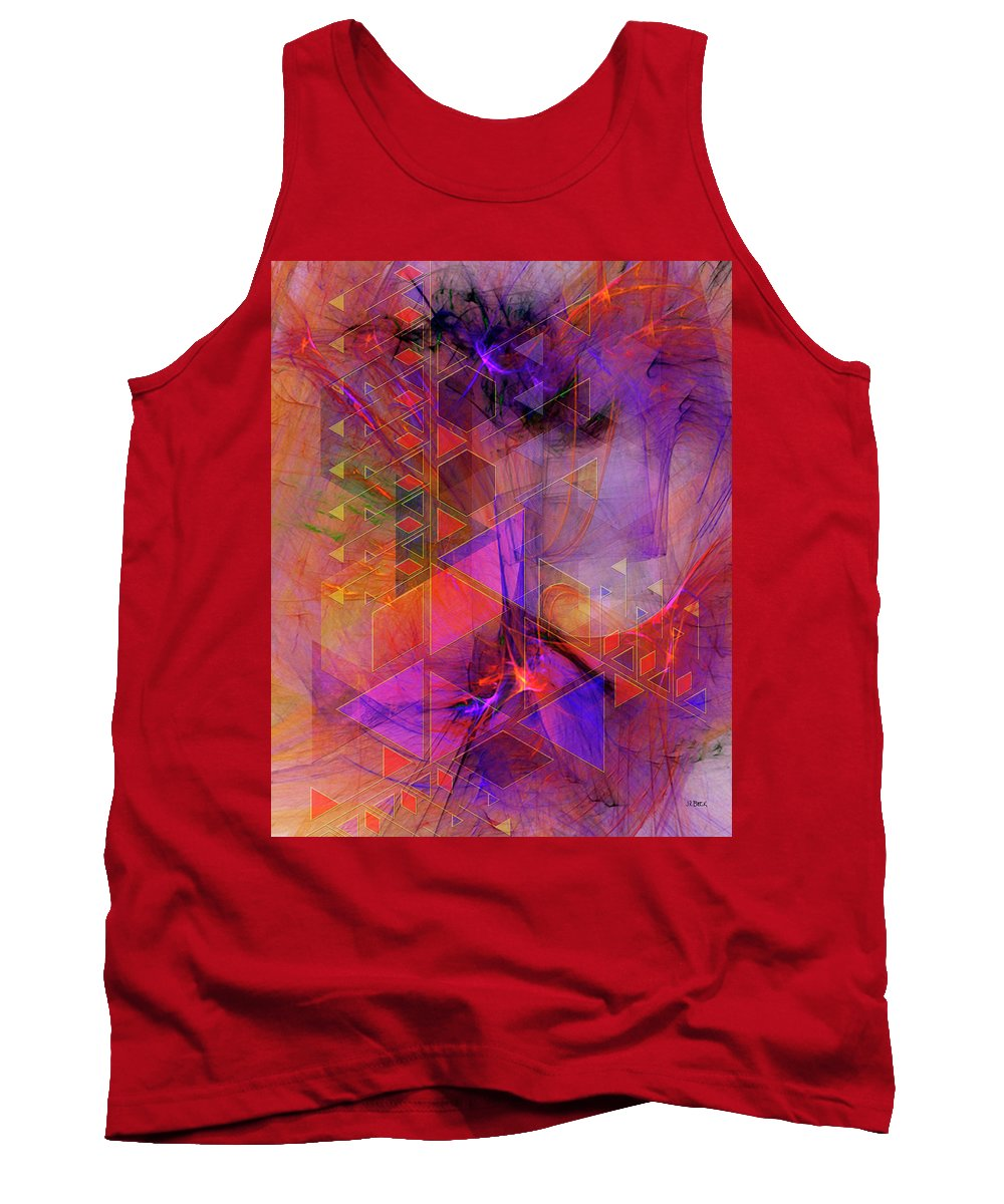Vibrant Echoes Tank Top featuring the digital art Vibrant Echoes by John Robert Beck
