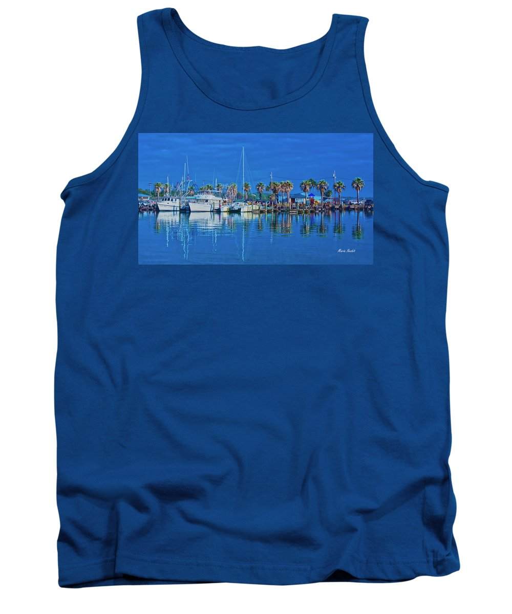 Blue Tank Top featuring the photograph Blue Morning by Maria Nesbit