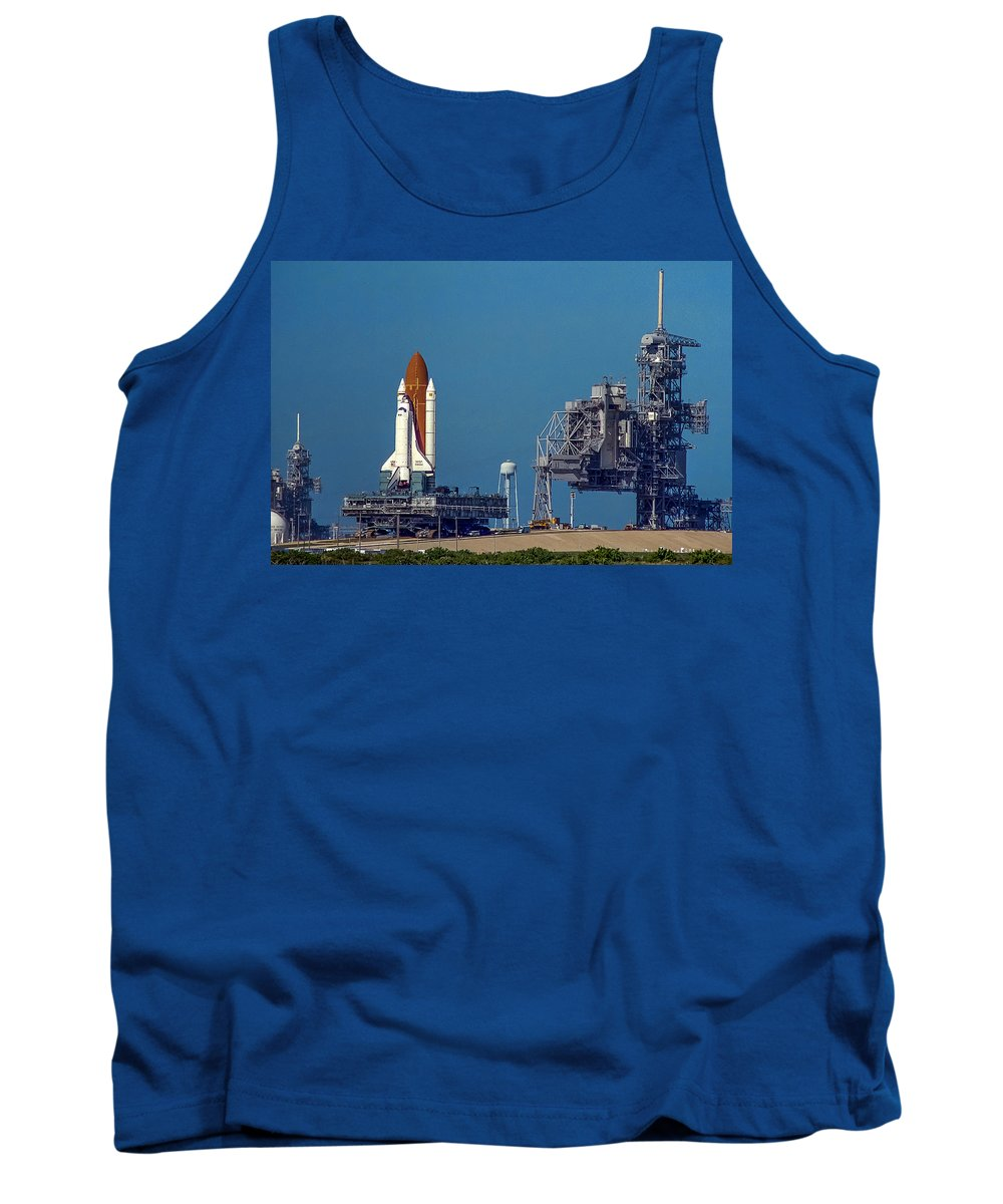 Space Shuttle Tank Top featuring the photograph Space Shuttle Roll-around by Chad Rowe