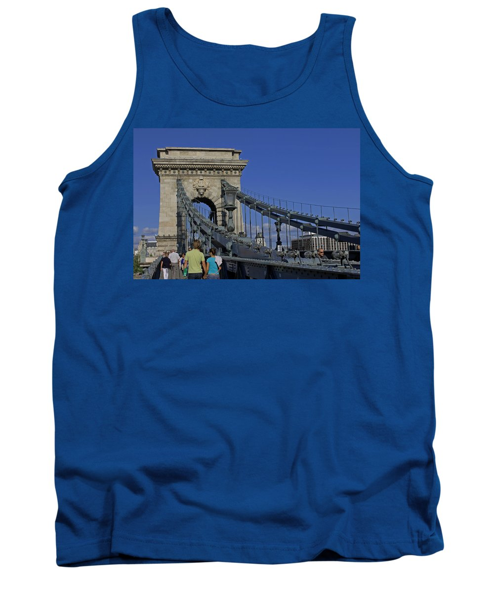 Chain Bridge Tank Top featuring the photograph Chain Bridge Budapest by Tony Murtagh