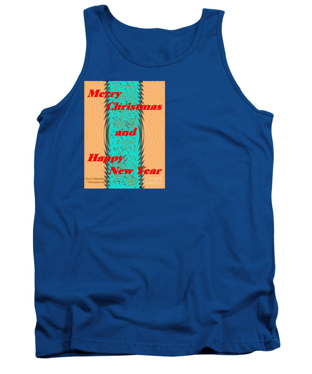 Modern Tank Top featuring the painting Christmas Cards And Artwork Christmas Wishes 40 by Gert J Rheeders