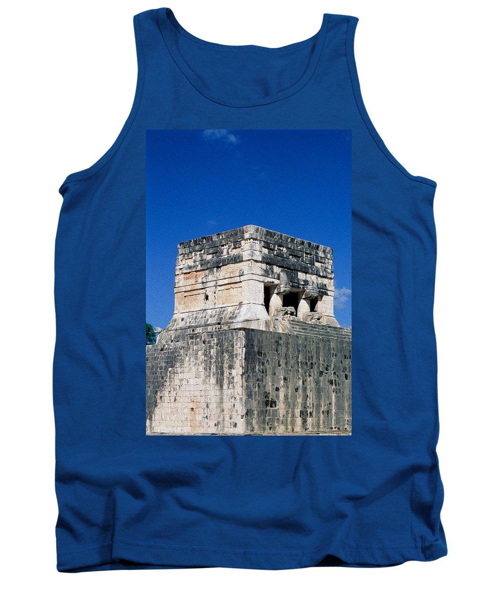 America Tank Top featuring the digital art Mayan Ruins by Roy Pedersen