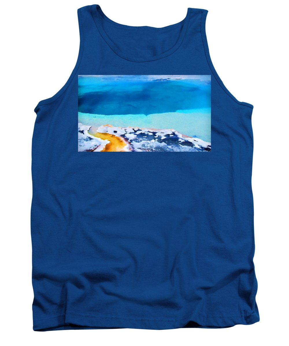 Yellowstone Tank Top featuring the photograph Moon On Earth 4 - Yellowstone by Allen Beatty