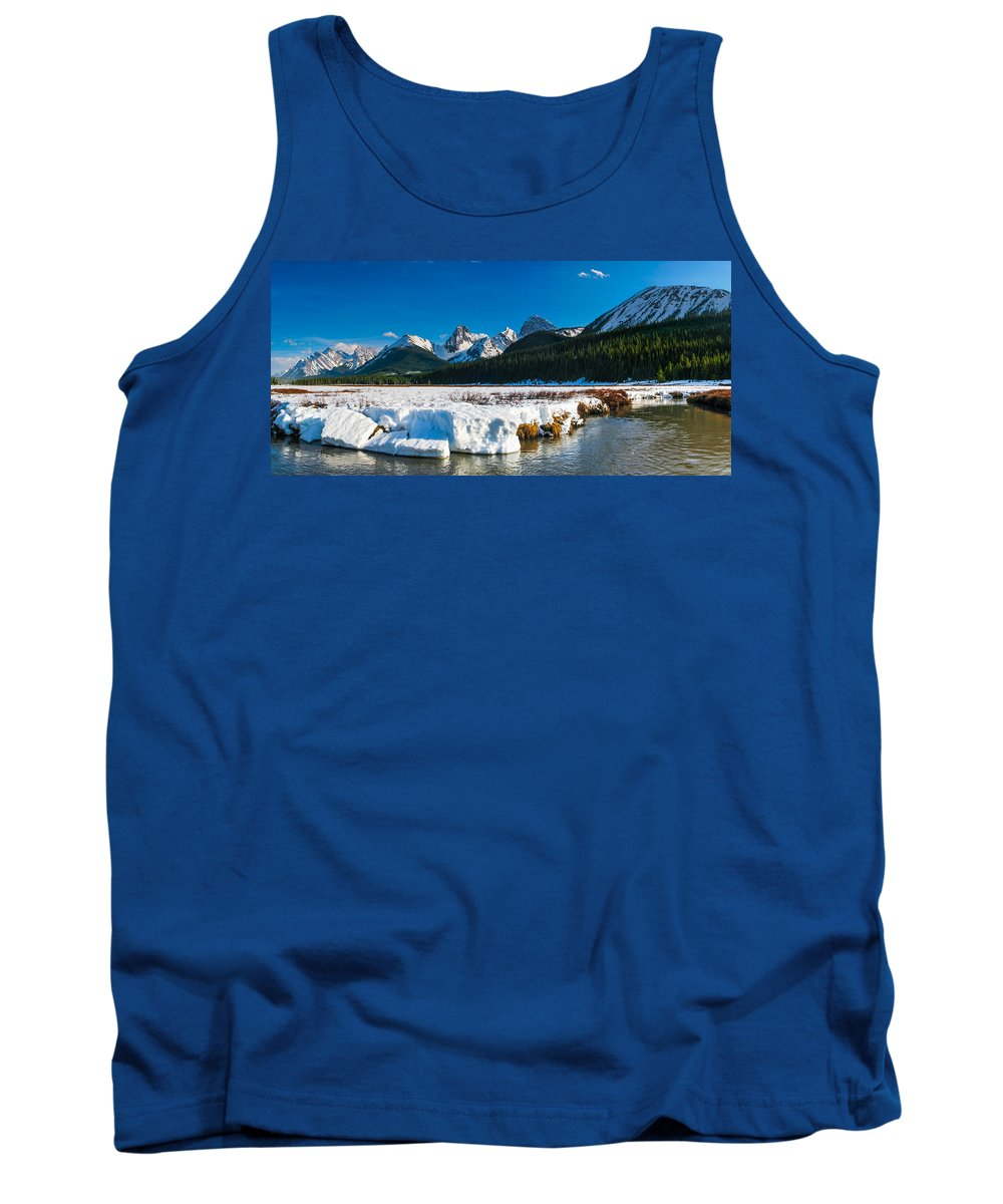 Alberta Tank Top featuring the photograph Mountains In Spring by Brandon Smith