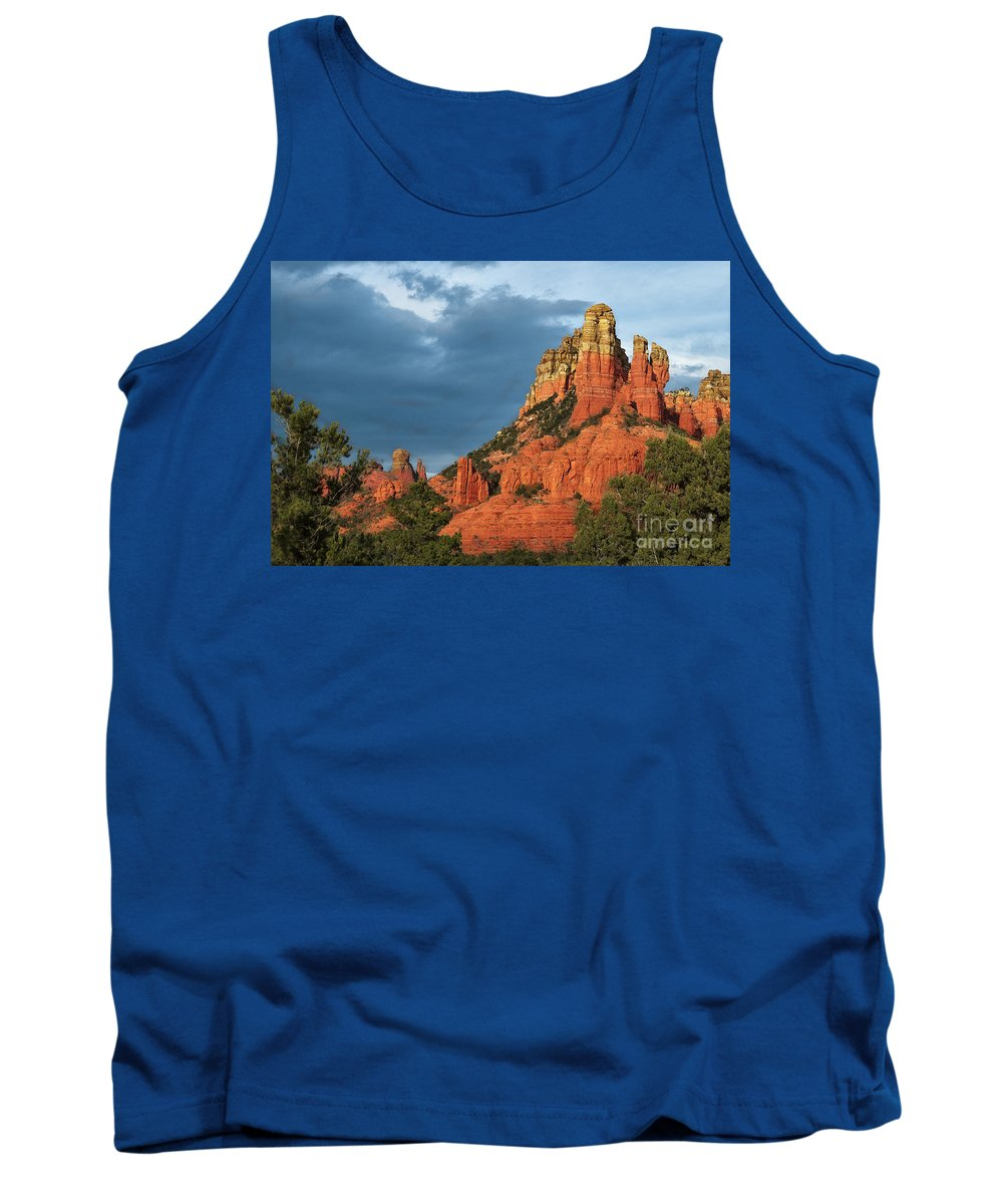Sedona Tank Top featuring the photograph Red Hills 4 by Larry White