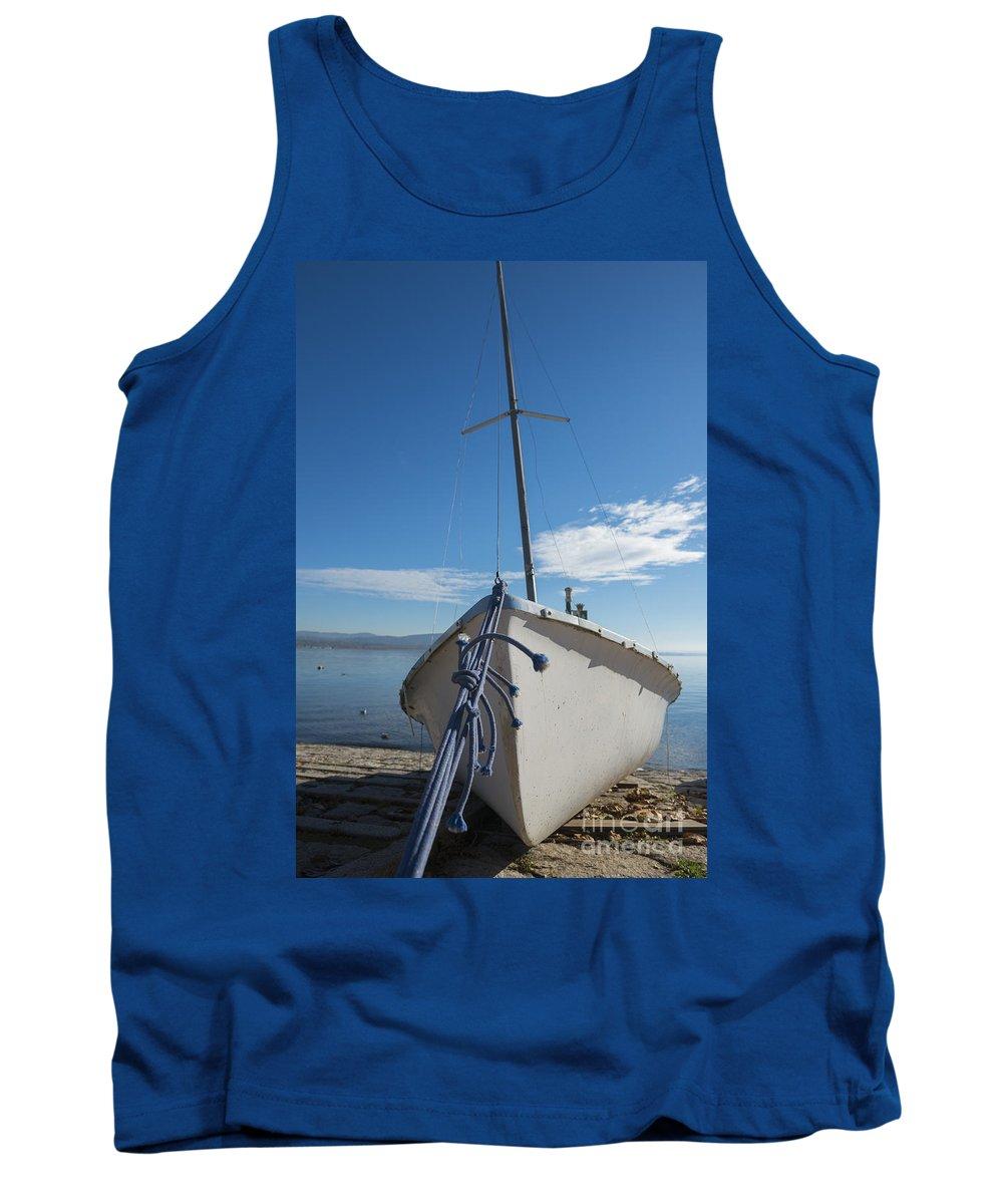 Sailing Boat Tank Top featuring the photograph Sailing Boat by Mats Silvan