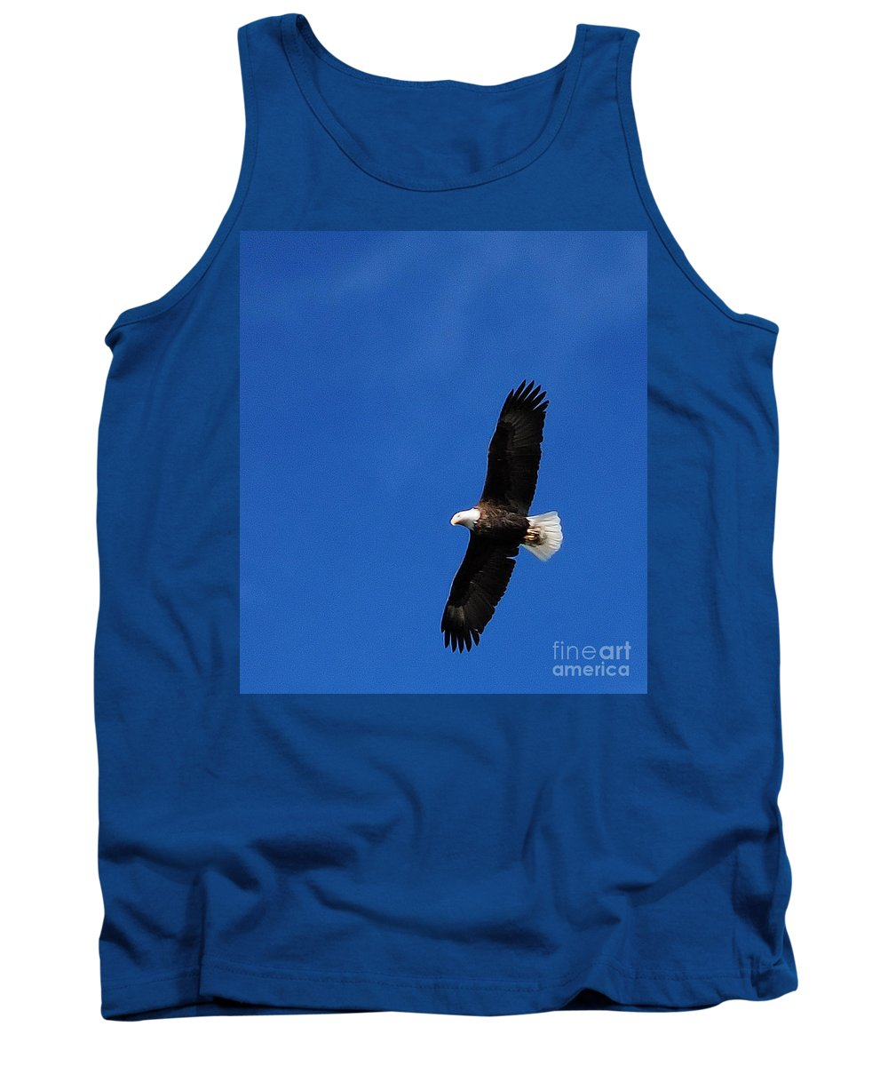 Bald Eagle Tank Top featuring the photograph Soaring I I by Sharon Elliott