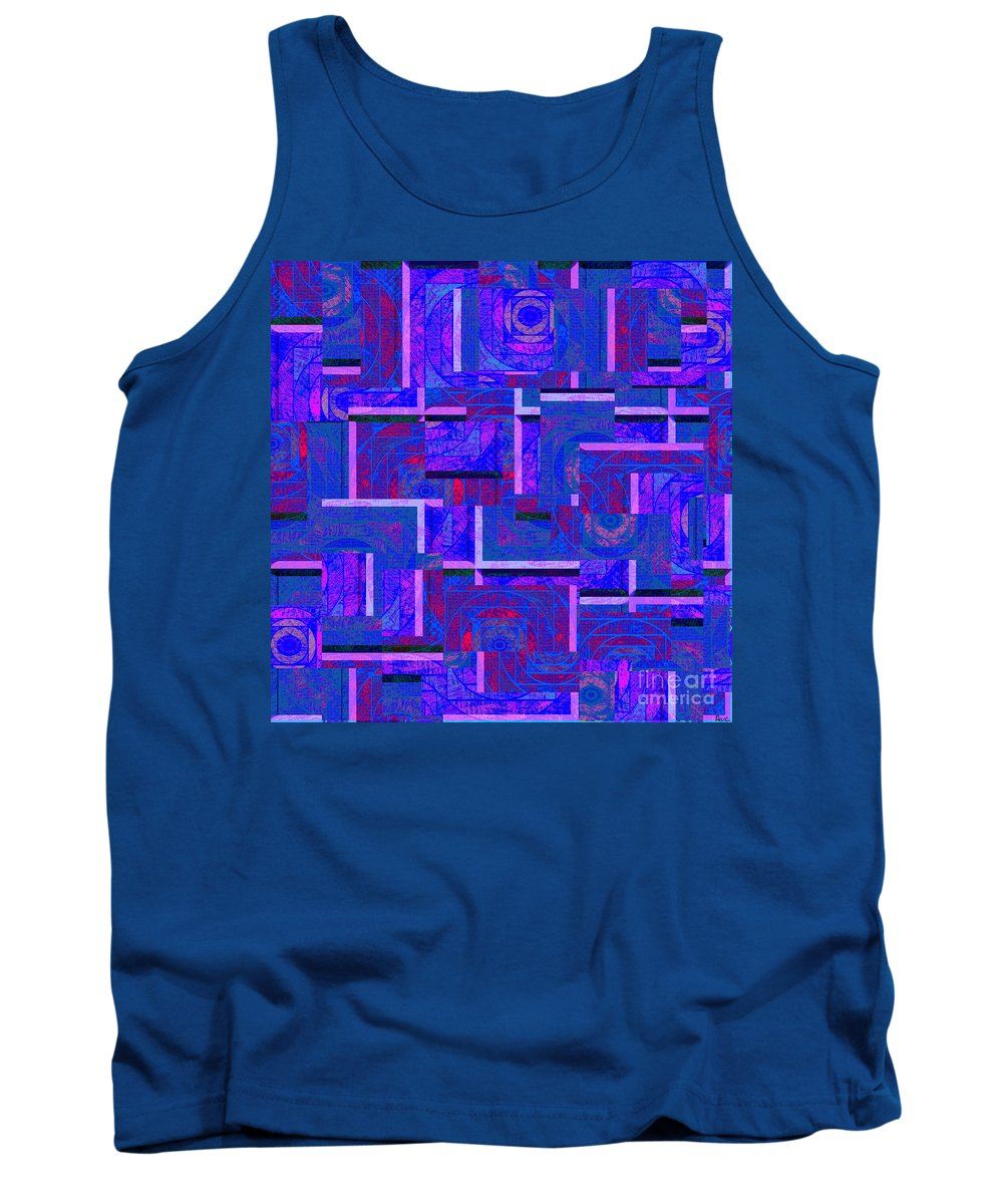 Abstract Tank Top featuring the digital art 1527 Abstract Thought by Chowdary V Arikatla