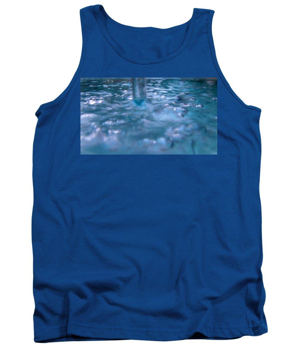 Australia Tank Top featuring the photograph Australia - Deep Blue White Water Colour by Jeffrey Shaw