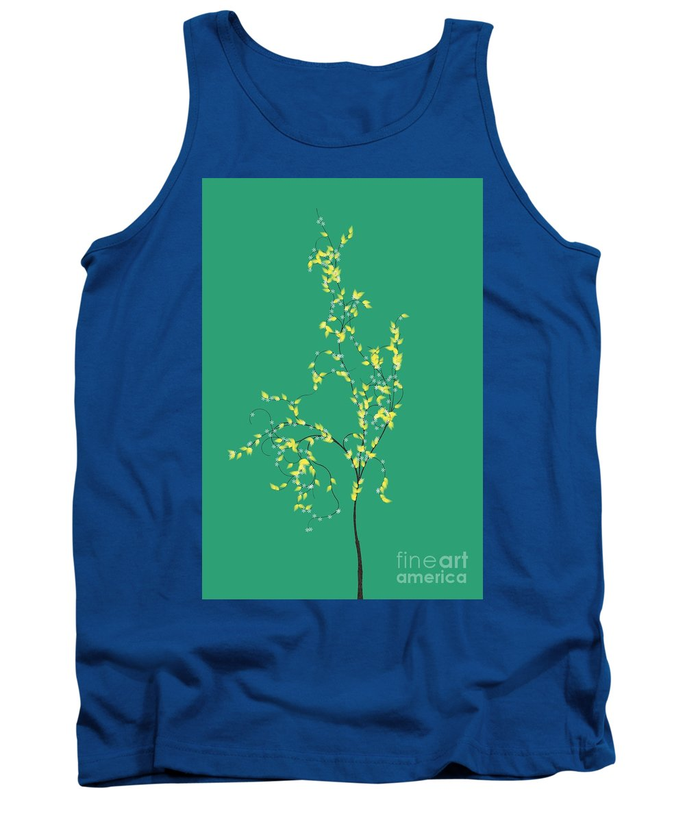 Trees Tank Top featuring the digital art Trees Of Life by Charles Dobbs