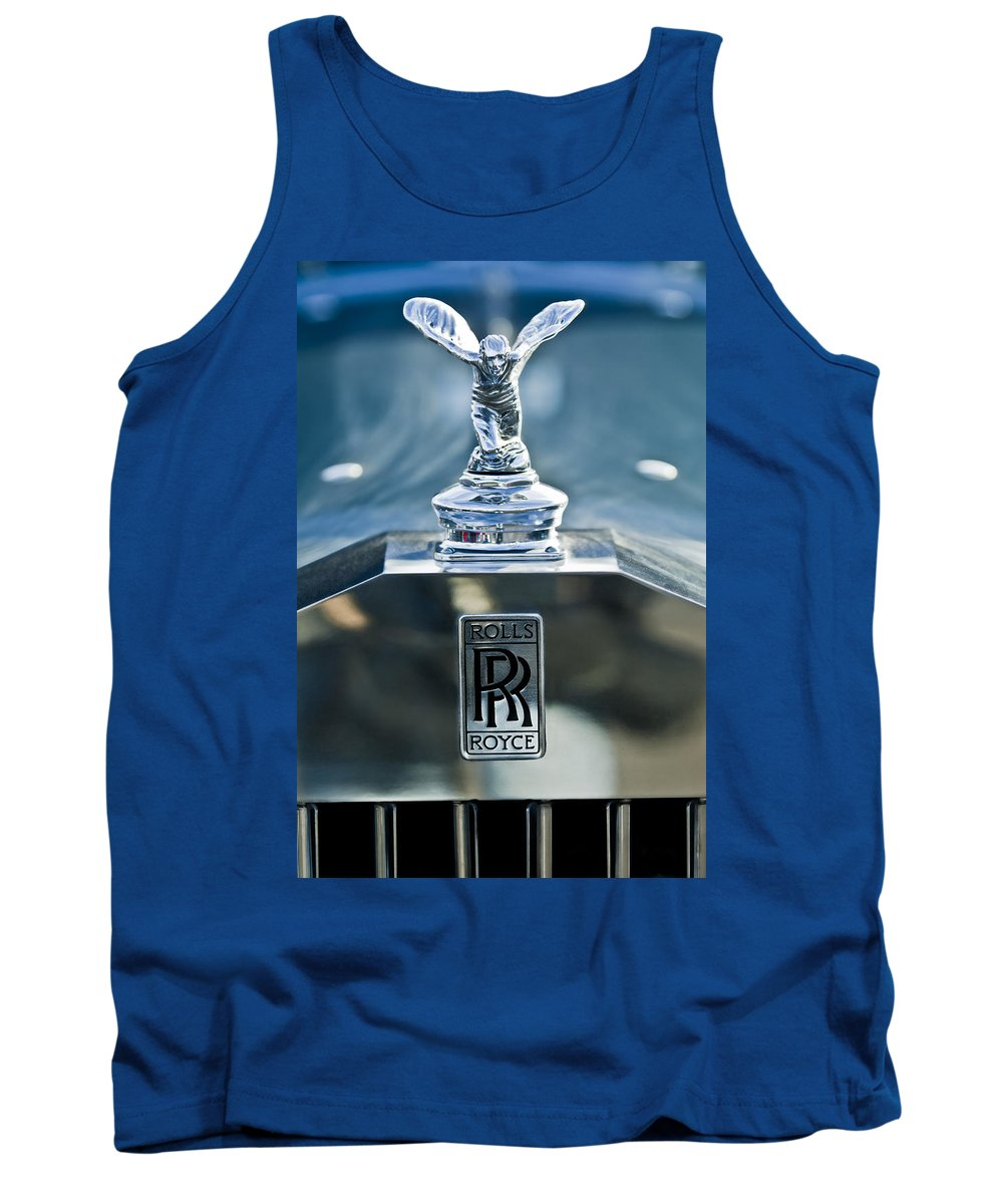 1952 Rolls-royce Tank Top featuring the photograph 1952 Rolls-royce Hood Ornament by Jill Reger