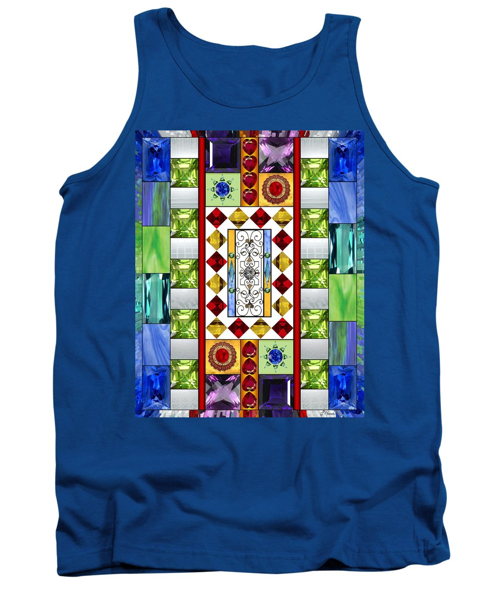 Bejeweled Tank Top featuring the mixed media Bejeweled 1 by Ellen Henneke