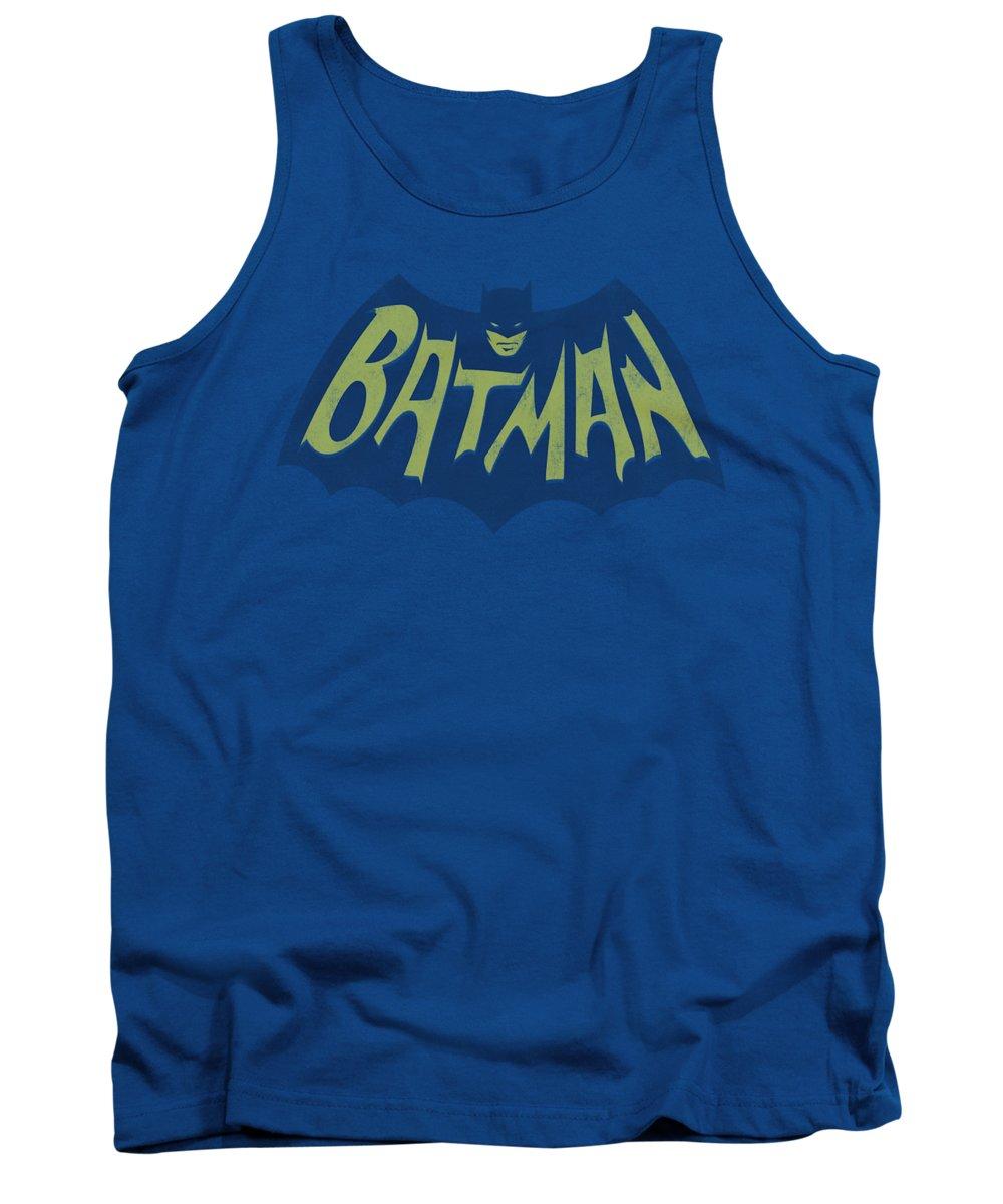 Batman Tank Top featuring the digital art Batman - Show Bat Logo by Brand A